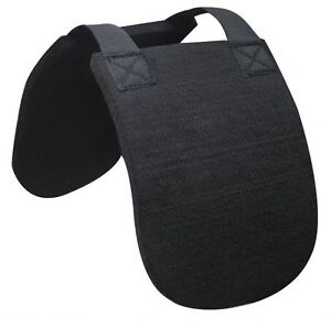 English-or-Western-Horse-Wither-Relief-Protection-Black-Felt-Saddle-Riser-Pad