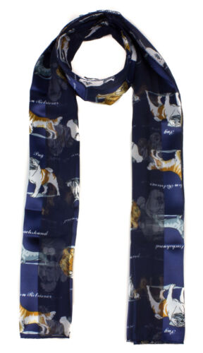 Ladies Soft Lightweight  Scarf with Dog Print Scarves Shawl Dogs /& Nam Printed