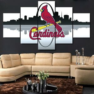 Large Framed St Louis Cardinals Canvas Print Home Decor Wall Art