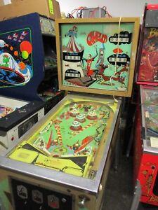 Rare-German-version-Bally-Camelot-electro-mechanical-pinball-machine-project