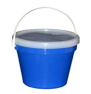 Image is loading 3-Blue-One-Gallon-Buckets-Lids-Air-Tight-  sc 1 st  eBay & 3 Blue One Gallon Buckets Lids Air Tight Container Mfg USA Food Safe ...