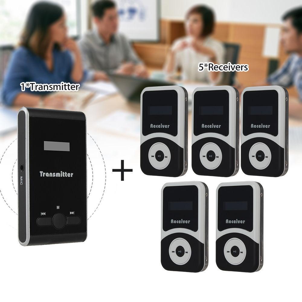 ATG-100 Wireless Audio Tour Guide System 1  Sender + 5  Empfänger + Mikrofon