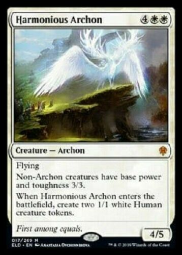 HARMONIOUS ARCHON X1 NM THRONE OF ELDRAINE MTG ~NOSTALGIC TREASURES~