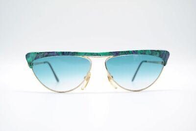 Vintage Vogart 678 Customized 55[]20 Grün Gold Oval Sonnenbrille Sunglasses Nos Bequemes GefüHl