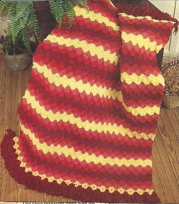 *Starburst Afghan crochet PATTERN INSTRUCTIONS