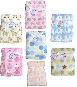 Baby-Newborn-Soft-Fleece-Blanket-Pram-Crib-Moses-Basket-Girl-Boy-Unisex-0-Month