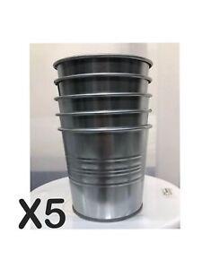 Image Is Loading Ikea Socker Plant Pot Galvanized Indoor Outdoor Flower