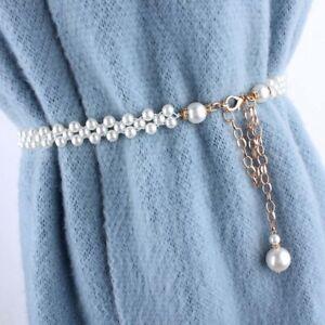 Fashion-Elegant-Women-Imitation-Pearl-Belts-Alloy-Chain-Belts-Black-White-h