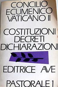 CONCILIO-ECUMENICO-VATICANO-II-COSTITUZIONI-DECRETI-DICHIARAZIONI-AVE-1966