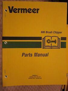 Vermeer 606 Brush Chipper Parts Manual Ebay