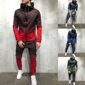 Mens-Autumn-Winter-Packwork-Sweatshirt-Top-Pants-Sets-Sport-Suit-Tracksuit-AU