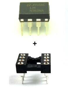 1PCS-National-Semiconductor-LM4562NA-LM4562-Socket-Dual-OpAmp-DIP-8-New-IC