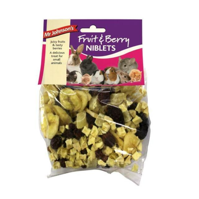 Mr Johnsons FRUIT BERRY NIBLETS Apple Banana Healthy Small Animal Rodent Treats