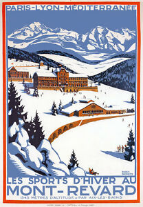 TX180-Vintage-Mont-Revard-Winter-Sports-French-France-Travel-Poster-A3-A4