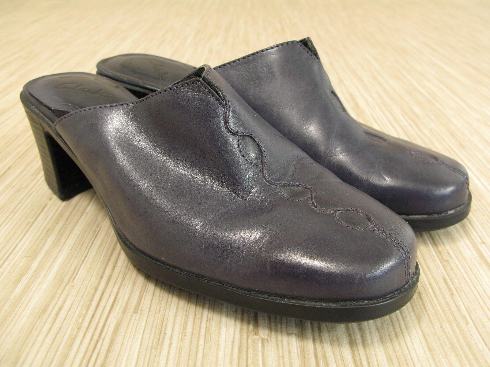 Clarks bluee, Mule style Heels, Size US 7.5 M
