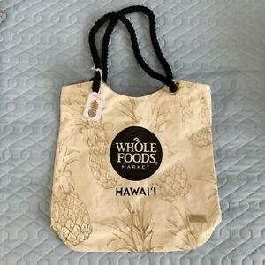 Details About Whole Foods Hawaii Limited Edition Gold Pinele Canvas Tote Ping Bag 2019