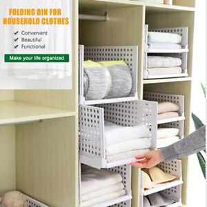 Folding-Bin-For-Household-Clothes-Storage-Box-Divider-Drawer-Pull-Frame