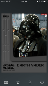 Topps-Star-Wars-Card-Trader-Insert-Fan-039-s-Choice-Award-Darth-Vader-4-310cc