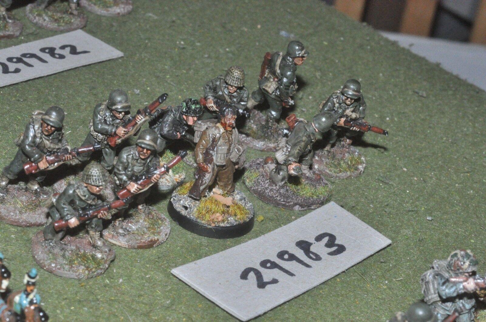 28mm WW2   american - platoon 10 figures - inf (29983)