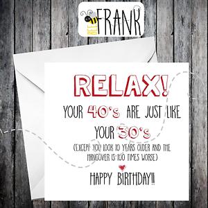 Image Is Loading Funny Rude Alternative Sarcastic BIRTHDAY Card 40th Birthday