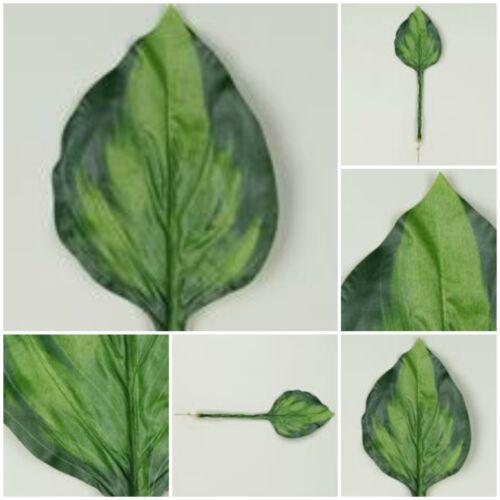Hosta 12 St Blatt Blattgrün Blätter Textilfaser Kunstpflanze Dekopflanze A593