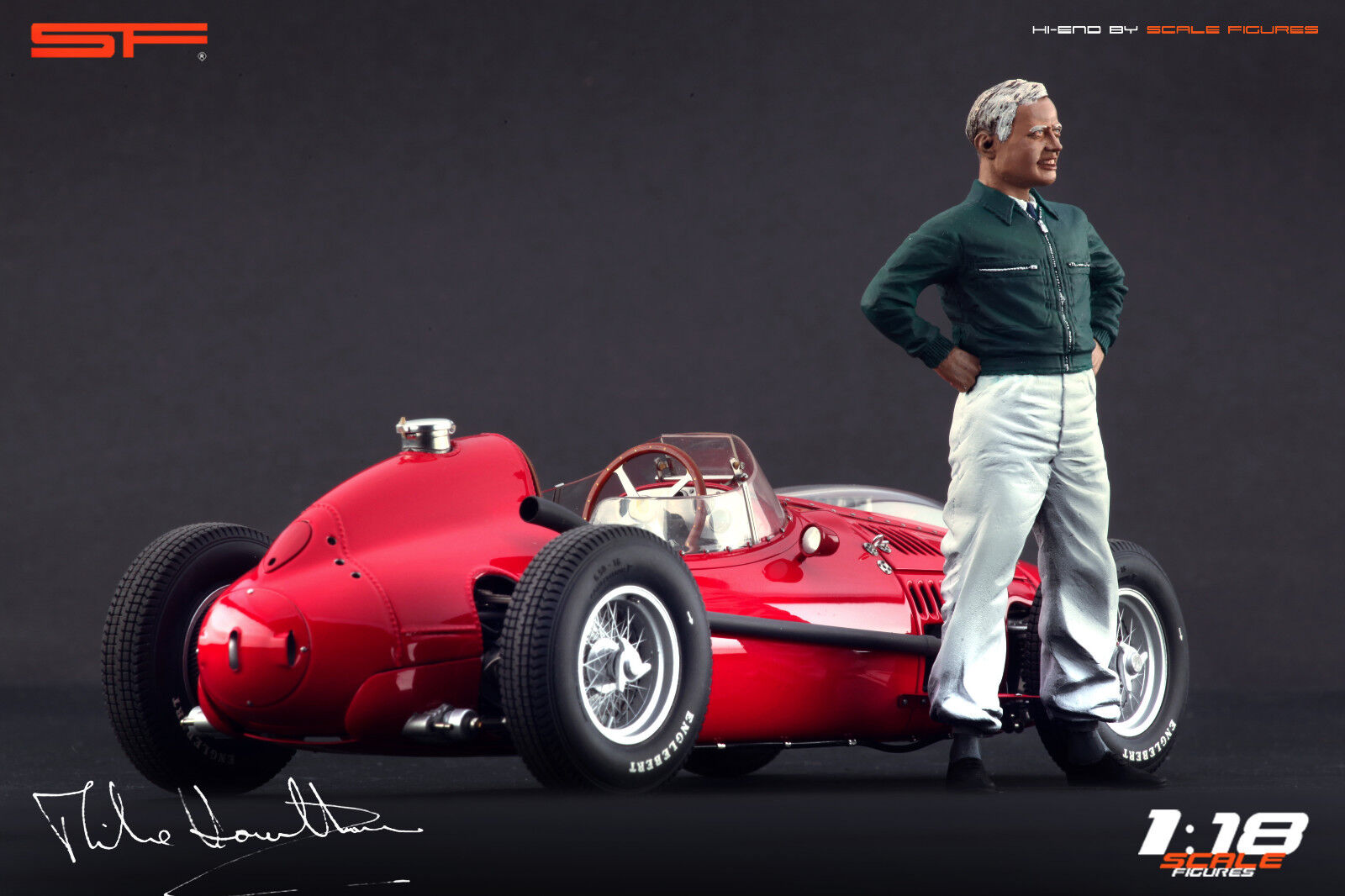 1 18 Mike Hawthorn figurine VERY RARE    NO CARS    for diecast collectors