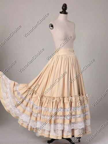 Victorian Skirts | Bustle, Walking, Edwardian Skirts    Victorian Lolita Princess Alice in Wonderland Sweep Skirt Theater Wear N K033 $97.00 AT vintagedancer.com