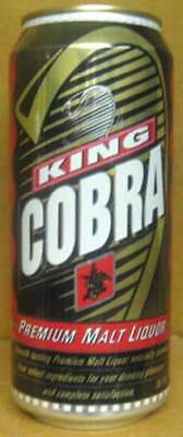 KING COBRA MALT LIQUOR 16oz Beer CAN w/ small SNAKE, Budweiser, MISSOURI grade 1