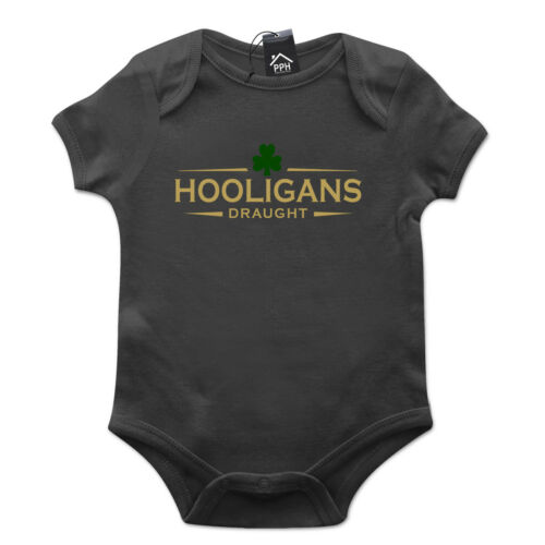 Hooligan tirant d/'eau irlandais irlande st patricks day baby grow cadeau babygrow costume P18