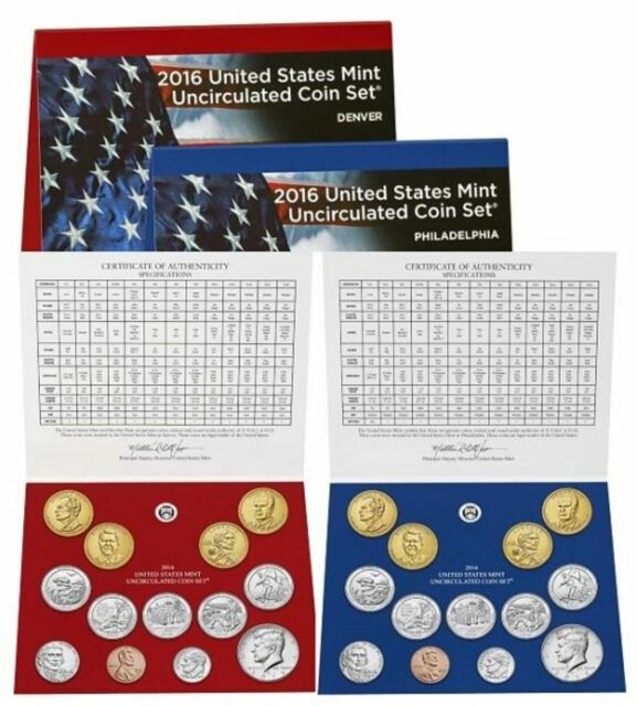 2016 P /& D Uncirculated Coin Set Mint Packaged