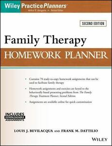 practiceplanners family therapy homework planner by arthur e jr