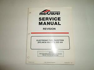 1994 mercruiser revision efi mcm 454 502 mie 454 service manual rh ebay ie Mercruiser Alpha One Mercruiser Replacement Parts
