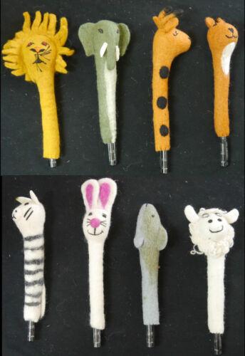 Stiftverlängerung Bleistifthalter div  lustige Mod Filz Handarbeit  aus Nepal