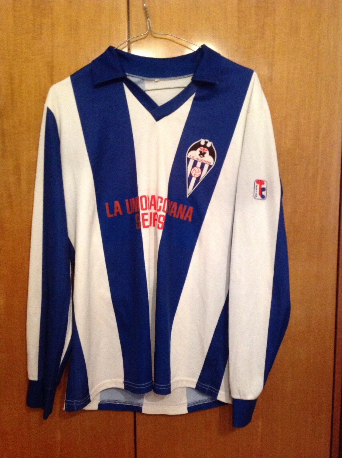 Camiseta futbol alcoyano 100% original match worn player issue football retro