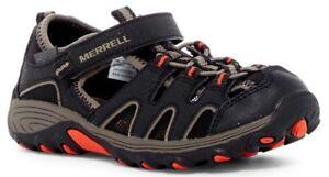 2cd1e4b1cd2b Merrell Boy s Hydro H2O Hiker Sandals Black   Gunsmoke   Orange Size ...