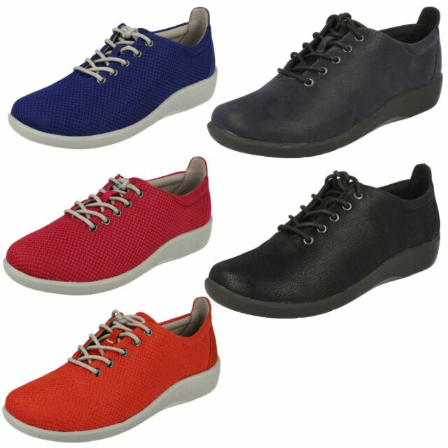 3d453baa Ladies Clarks Cloud Steppers Lace Up Shoes *Sillian Tino*