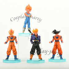 Dragon Ball Z Super Saiyan Fusion 4x Figures Dolls Toys: Goku Vegeta Trunks NEW