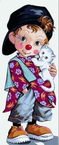 Royal Paris Tapestry//Needlepoint Canvas Little Clown Pio