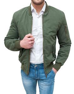 Chaqueta-chaqueta-de-hombre-Diamond-casual-verde-algodon-acolchado-interna