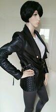 Immaculate.ROBERTO Just CAVALLI.leather biker jacket.coat.uk 8/40 £1795.black