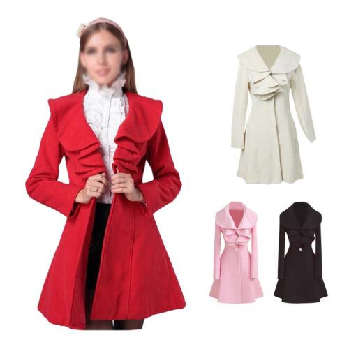 Fashion Womens Slim WOOL Warm Long Coat Jacket Trench Windbreaker Parka Outwe X9