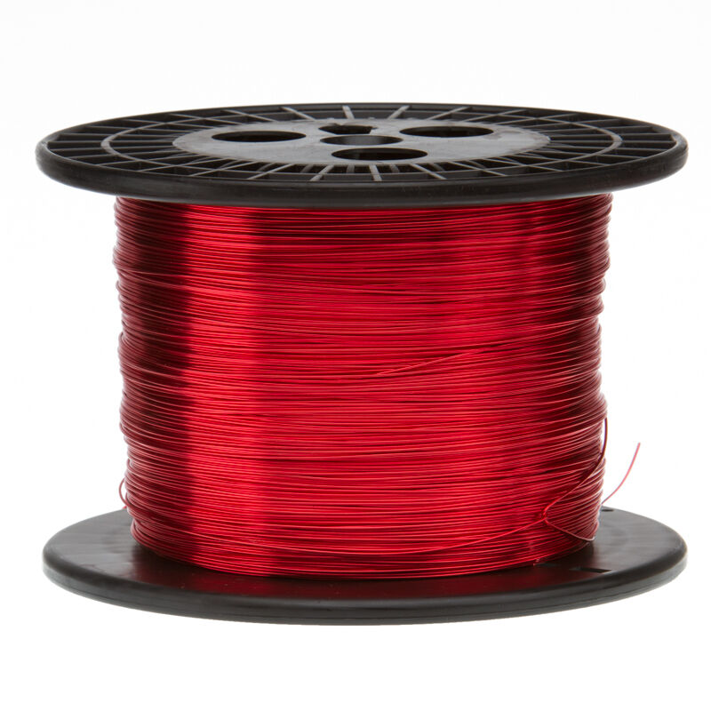 """20 AWG Gauge Heavy Copper Magnet Wire 1.0 lbs 314/' Length 0.0346/"""" 155C Red"""