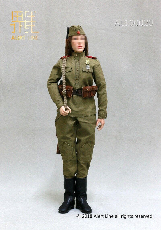 1 6 Alert line AL100020 World War II female female female Soviet sniper Suit 12'' cifra bbbaf8
