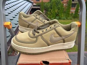 big sale e6bf0 e2cb0 Image is loading VINTAGE-NIKE-AIR-FORCE-1-LOW-CANVAS-2000-