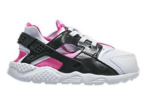 ab06af3a7ece Image is loading Girls-Kids-NIKE-HUARACHE-RUN-TD-White-Trainers-