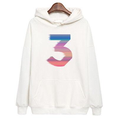 Chance The Rapper 3 Color Logo Hoodie Hip Hop Rap Hooded Sweatshirt Merch White Ebay