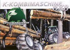 Kotschenreuther K Serie 2015 Broschüre brochure Waldschlepper forestry tractor