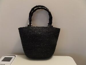 St-Johns-Bay-Black-Woven-Handbag-Purse-Tote
