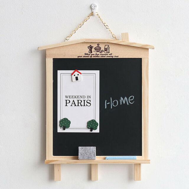 Vintage Wooden Chalk Board Blackboard Decor Message Memo Board Removable