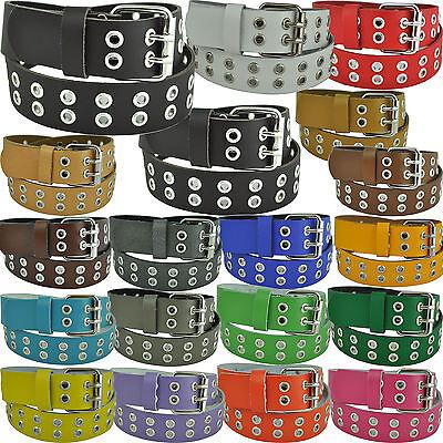 Fornitura 100% Pelle Cintura Con Occhielli Circa 5cm Larga Lunghezza & Colore A Scelta 75cm A 125- Superiore (In) Qualità